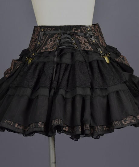 取り外せるポケットがセットになったスカート。  商品番号:SPD21-S005