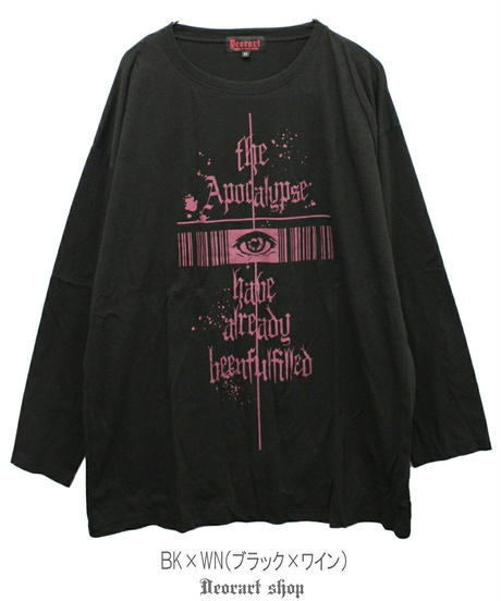 《Deorart》オーバーサイズ 長袖 プリントTシャツ [ Gothic eye ] DRT2590