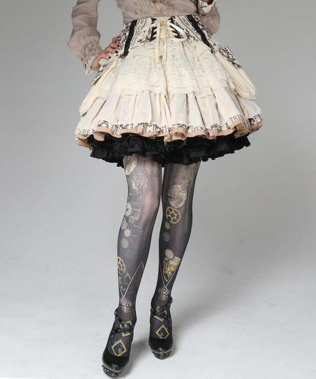 h.NAOTO Steam Vapor Skirt