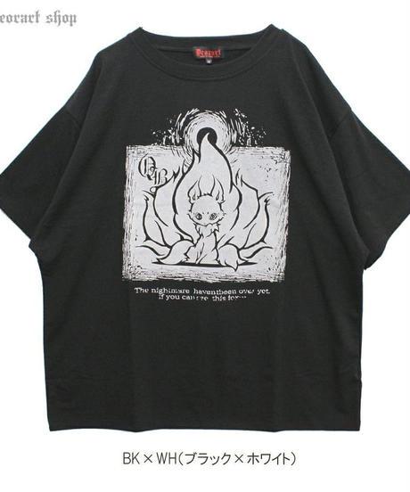 Deorart  DRT2581 ヴィンテージ仕上げ オーバーサイズTシャツ(キュービウラメン)