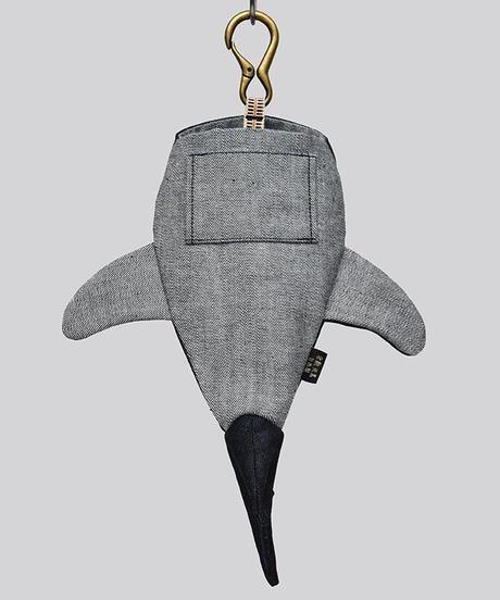 KASEI/カセイ 12ヶ月連続企画 10月のサメさん 生デニム6+ ステッチカラー 青ステッチ