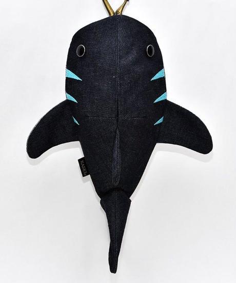 KASEI/カセイ 12ヶ月連続企画 6月のサメさん 生デニム6+ ステッチカラー 水色