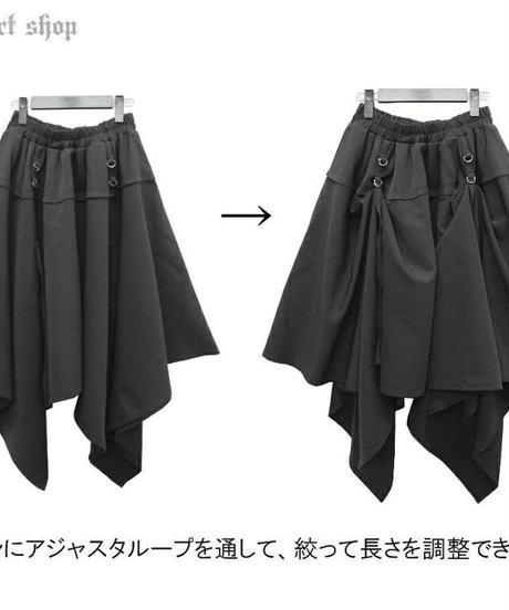 Deorart  DRT2565 STファブリック地 アジャスタ付 変形 ユニセックススカート