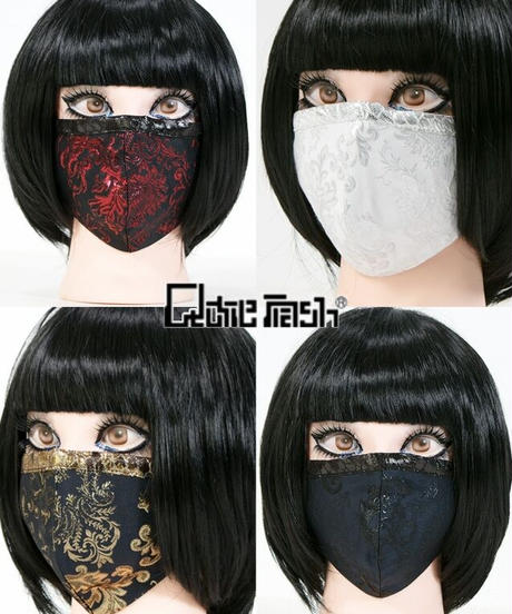 QutieFrash 7829-AC ファッションマスク <メタルジャガード>