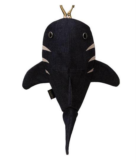 KASEI/カセイ 12ヶ月連続企画 9月のサメさん 生デニム6+ ステッチカラー ピンクベージュ