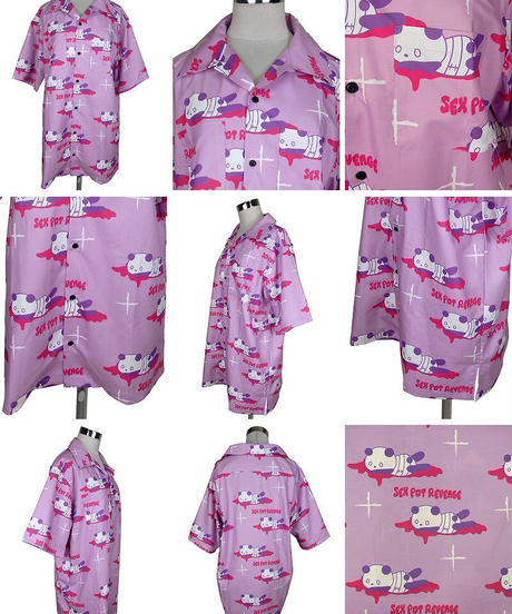 SEXPOT ReVenGe sb01096 血まみれパンダ フルカラー SUMMER BIGシャツ