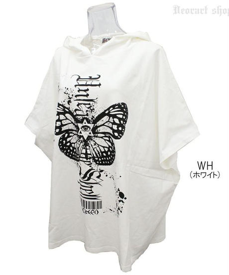 Deorart  DRT2560 フーディ プリント ポンチョTシャツ [Butterfly] ゴシック・蝶々・バタフライ