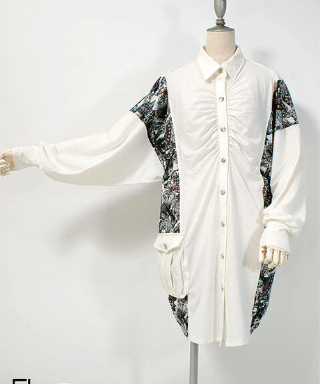 Qutie Frash 7930-BL BIGシャツ