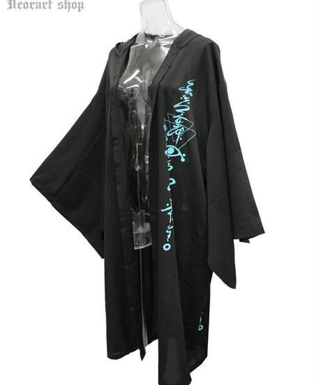 Deorart  DRT2578 [透け感 シアー素材] 着物袖 フード付 ロングカーディガン (百目鬼)