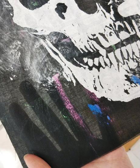 h.NAOTO Slash paint damage pants
