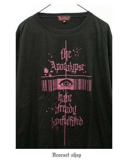 Deorart DRT2590 オーバーサイズ 長袖 プリントTシャツ [ Gothic eye ]