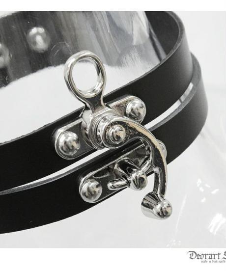 Deorart  BY1033 Buckle double belt choker バックル・コルセット 2連チョーカー/首輪/ゴシック