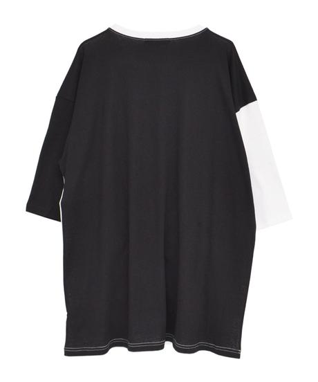 HELLCATPUNKS  HCP-T-0117 切り替えTシャツ