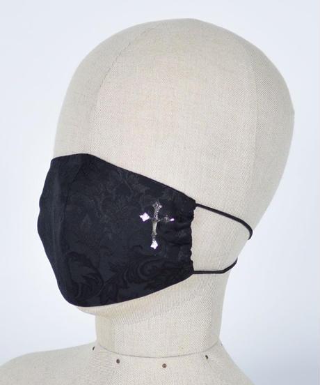 h.NAOTO Gothic Pattern Cross Mask Wear