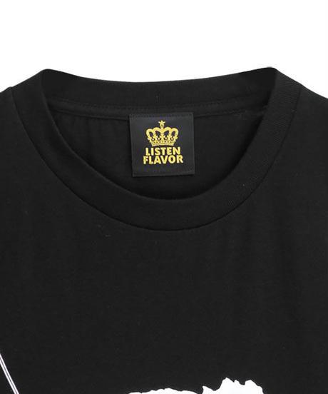 LISTEN FLAVOR  2110510  お注射ベアビッグTシャツ 【BLACK】