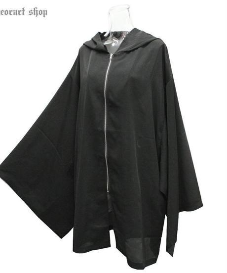 Deorart  DRT2571 [透け感 シアー素材] 着物袖 ジップパーカー/夏素材/UV/日焼け対策