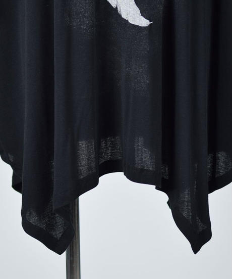 h.NAOTO Angel Wings Super Size Tunic BLACK-SILVER
