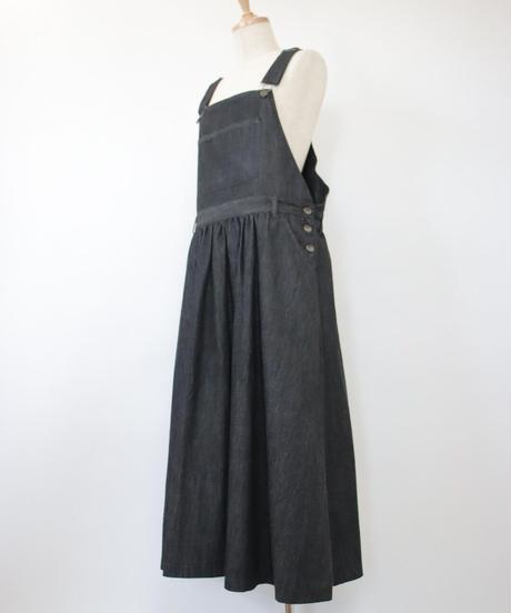 リネンコットンデニムジャンパースカート 2color 〇ub-0174