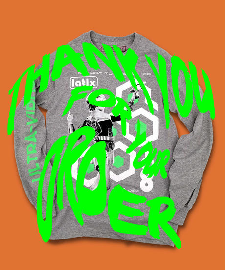"""『Return to Planet 108』LONG-SLEEVE """"HEATHER GRAY"""""""