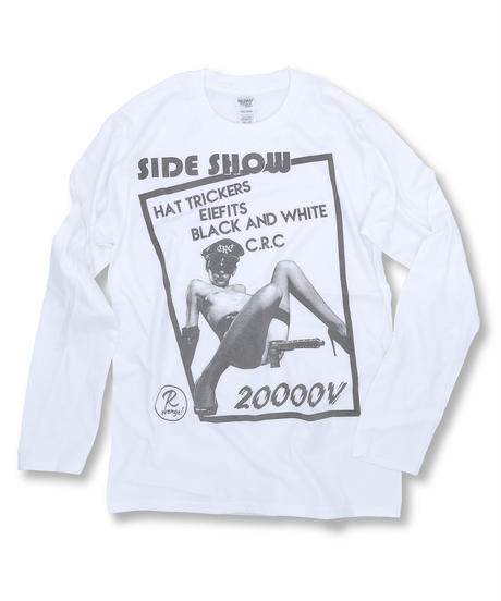 "DONATION『SIDE SHOW x 二万電圧』LONG-SLEEVE ""WHITE"""