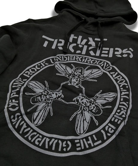 『THE GUARDIANS OF PUNK ROCK』HOODIE PULLOVER-TYPE BLACK×GRAY