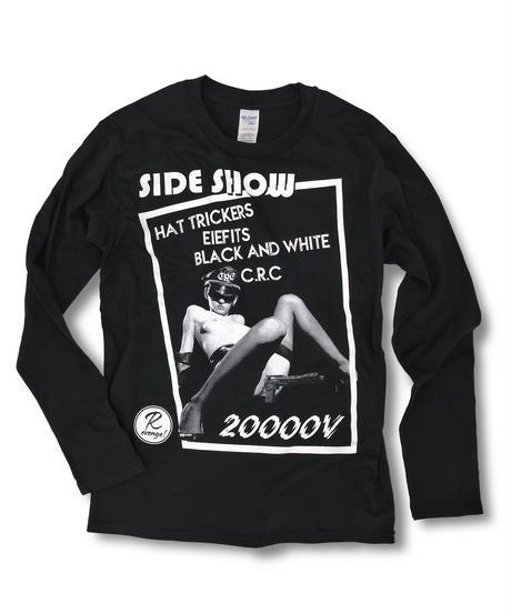 "DONATION『SIDE SHOW x 二万電圧』LONG-SLEEVE ""BLACK"""