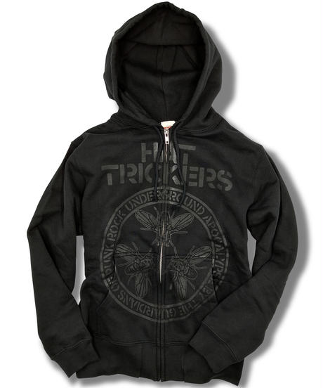 『THE GUARDIANS OF PUNK ROCK』HOODIE ZIP-TYPE BLACK×BLACK