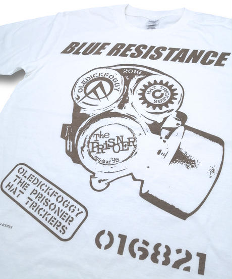 """DONATION『BLUE RESISTANCE』LONG-SLEEVE """"WHITE"""""""