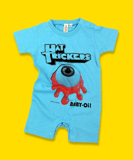 "『KROVVY GRASS』BABY ROMPERS""AQUA BLUE"""