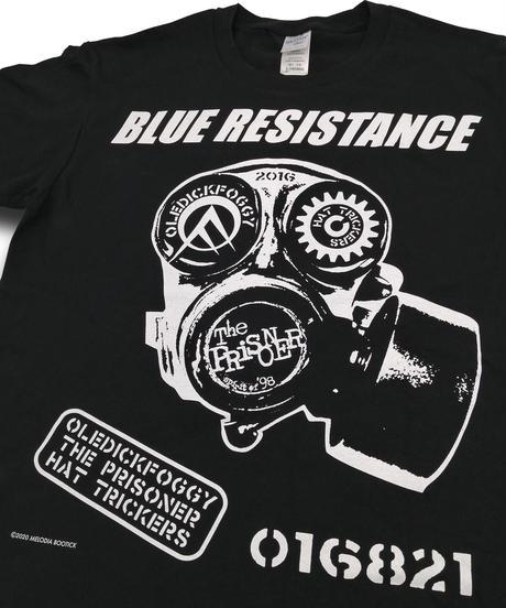 "DONATION『BLUE RESISTANCE』LONG-SLEEVE ""BLACK"""