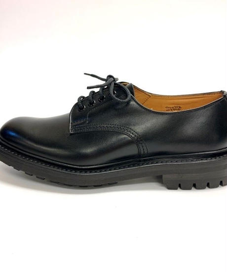 19.53 Rejected Tricker's / Black / Plain Toe Country Shoes / Commando W Sole / Size 6H