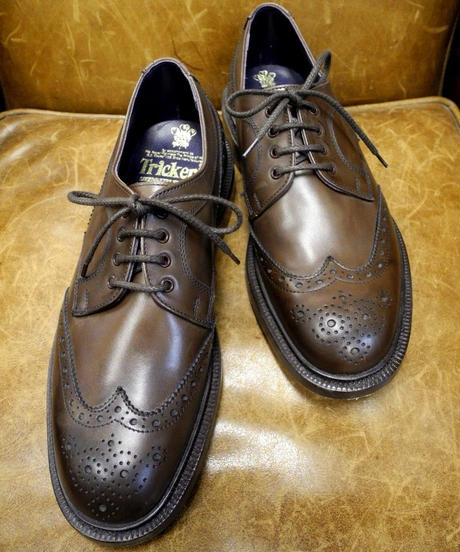 18.62 Rejected Tricker's / Brown / Full Brogue Shoes / Leather Sole