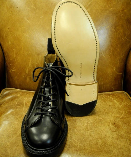 18.57 Rejected Tricker's / Black / Monkey Middle Boots / Leather W Sole/ Size6