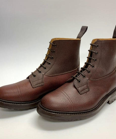 19.58 Rejected Tricker's / Brown Grain / Country Imitation Cap Boots / Commando W Sole / Size 7H
