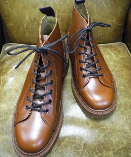 18.58 Rejected Tricker's / Marron / Monkey Middle Boots / Leather W Sole / Size 8