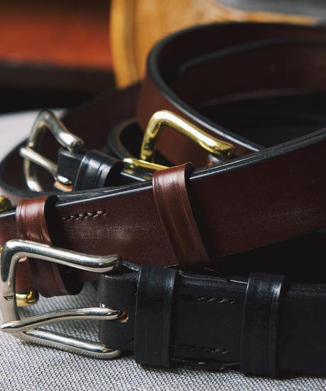 Martin Faizey × UW / Saddle Leather Belt / 1.5 inch