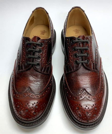 19.66 Rejected Tricker's / Dark Red / Country Brogue Shoes / Dainite W Sole / Size 7H
