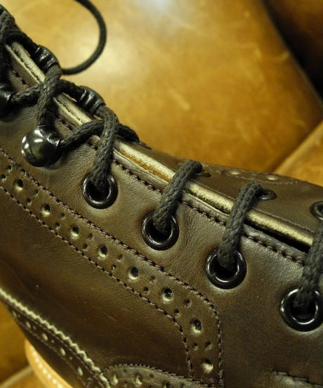 18.03 Rejected Tricker's / Brown / Country Brogue Boots / Command W Sole / Size 7 half