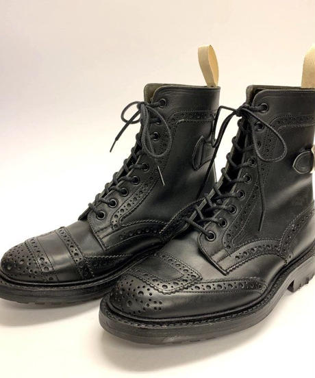 19.46 Rejected Tricker's / Black / Motorway Boots / Commando W Sole / Size 6