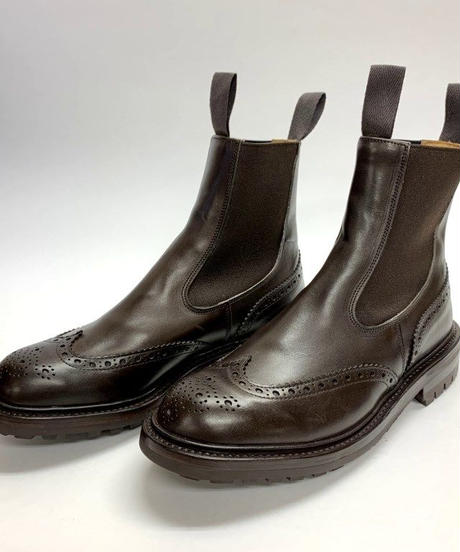 19.44 Rejected Tricker's / Dark Brown / Side Gore Boots / Commando W Sole / Size 6H-4Fitting