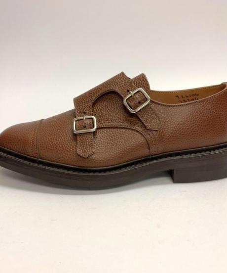 19.31 Rejected Tricker's / Brown Grain / W Monk Shoes / Dainite W  Sole
