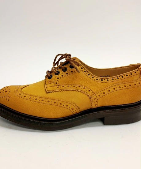19.62 Rejected Tricker's / Matt Grain Light Brown / Country Brogue Shoes / Dainite W Sole / Size 8