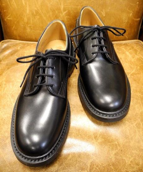 18.105 Rejected Tricker's / Black / Plain Toe Shoes / Dainite W Sole / Size 9