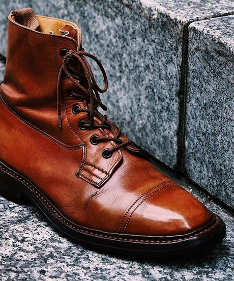 Tricker's × UW / Imitation Cap Country Boots / Marron Antique