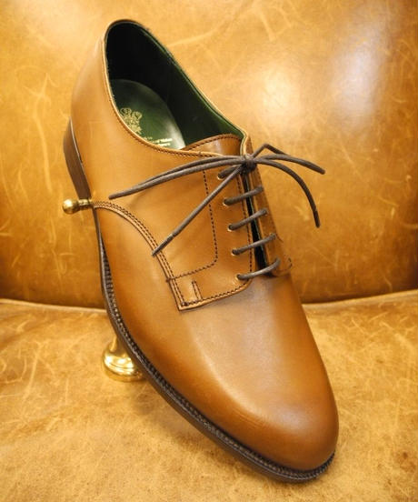 18.98 Rejected Tricker's / Brown / Plain Toe Derby Shoes / Leather Sole 2Tone / Size 6