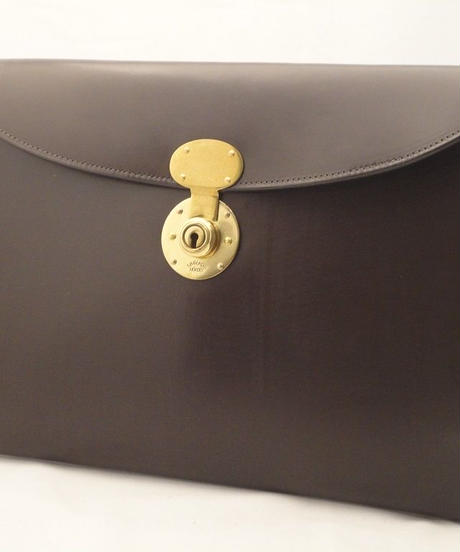 Rutherfords / Folio Case with 806 Lock / Chocolate