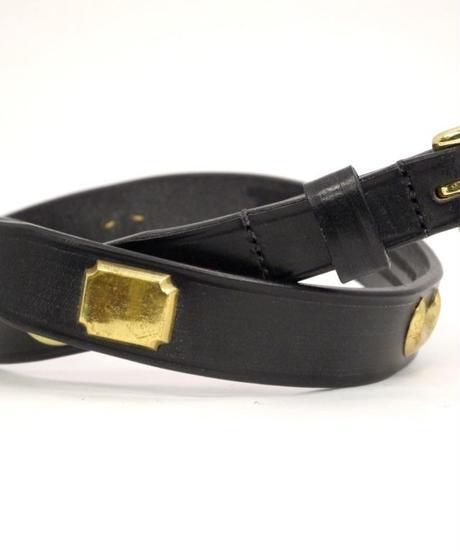 Martin Faizey × UW / Bridle Leather  Studded Belt