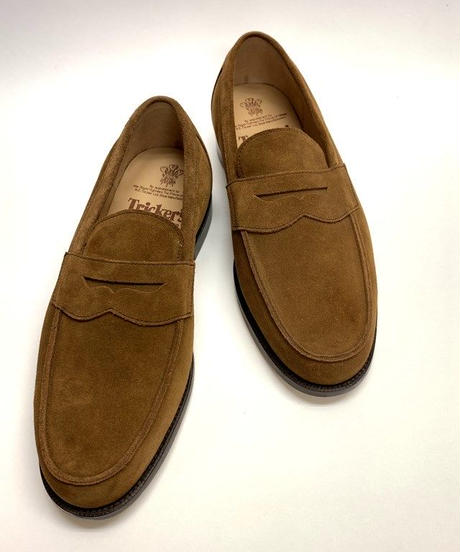 19.21 Rejected Tricker's / Light Brown Suede / Loafers / Leather  Sole / Size 8