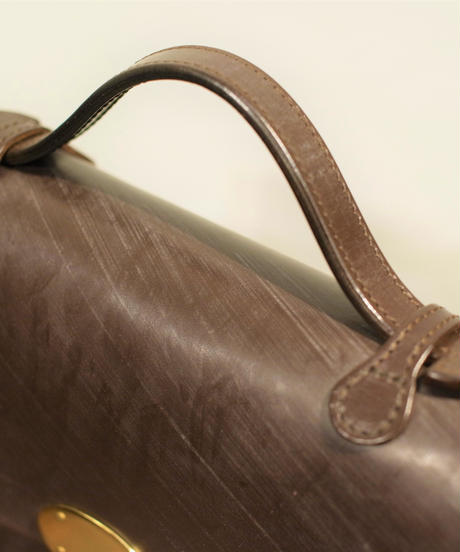 Rutherfords / Satchel With 806 Lock  / Large /Chocolate