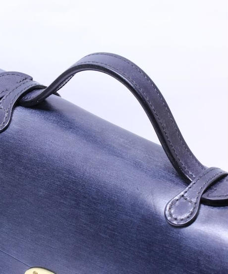 Rutherfords / Satchel With 806 Lock  / Large /Navy